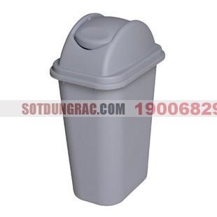 Thùng rác nhựa có nắp bập bênh
