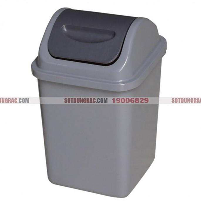 Thùng rác nhựa HDPE nắp bập bênh