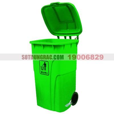 Thùng rác nhựa có đạp chân mở nắp