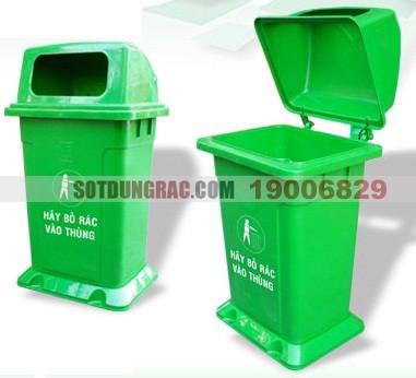 Thùng rác nhựa có nắp