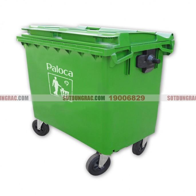 Thùng rác nhựa composite 660 lít