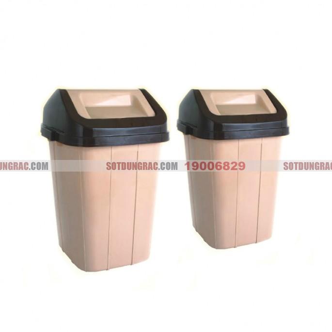 thùng rác nhựa vuông 20l
