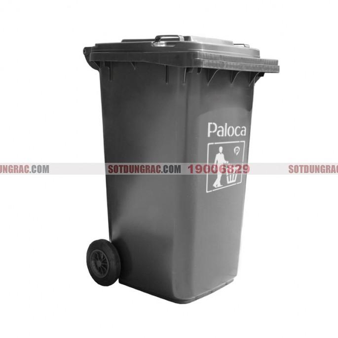 Thùng rác nhựa 240L màu ghi