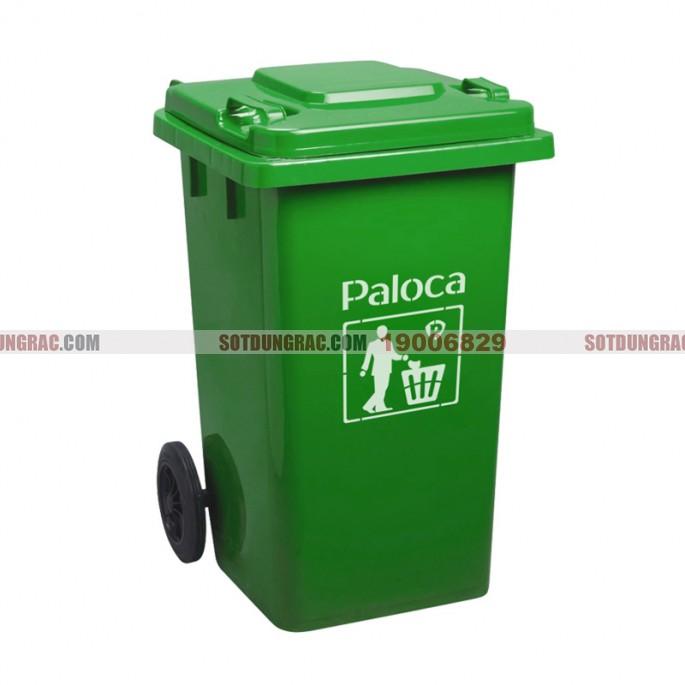 Thùng rác nhựa 240L màu xanh lá
