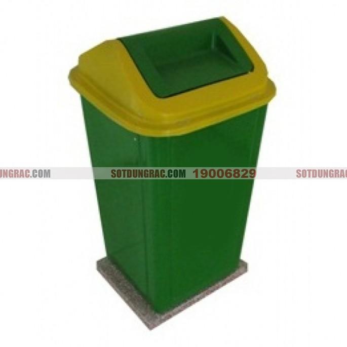 Thùng rác nhựa composite 90 lít đế đá