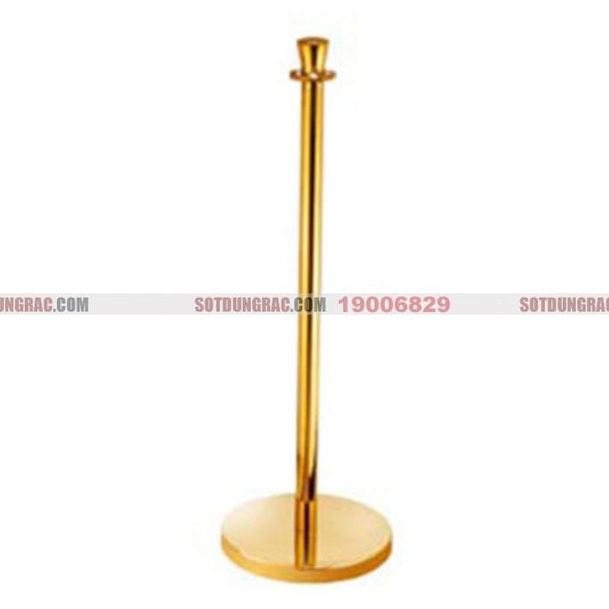 Cột trụ ngăn bằng inox 304 mạ vàng có dây chắn đẹp G28-B