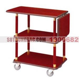 Xe đẩy phục vụ bàn bằng gỗ