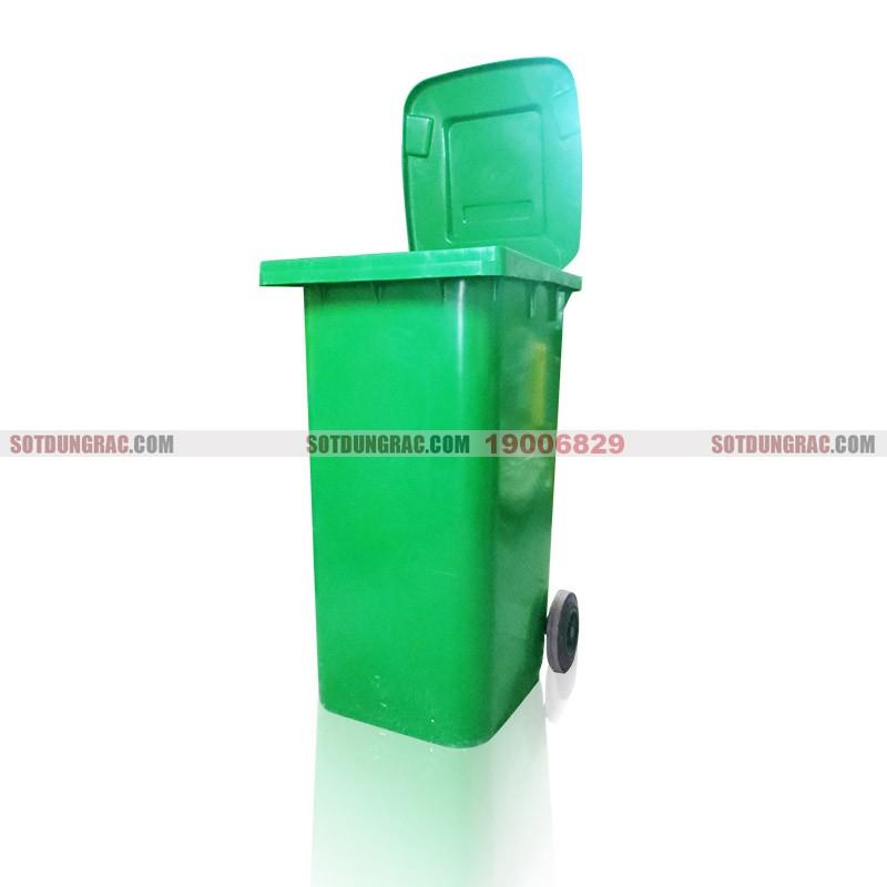 Thùng rác nhựa công cộng có bánh xe