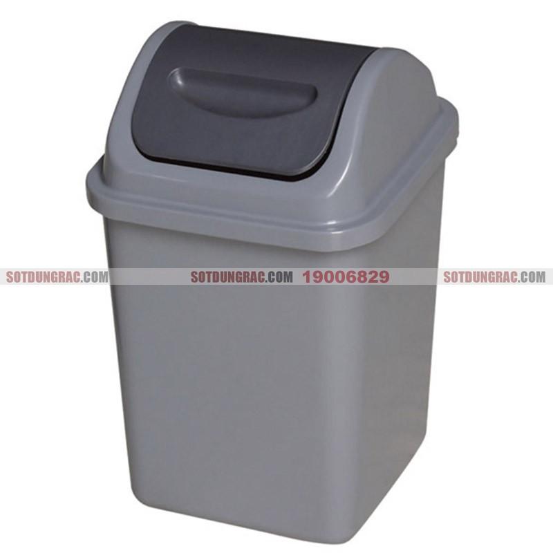 Thùng đựng rác nhựa nắp bập bênh