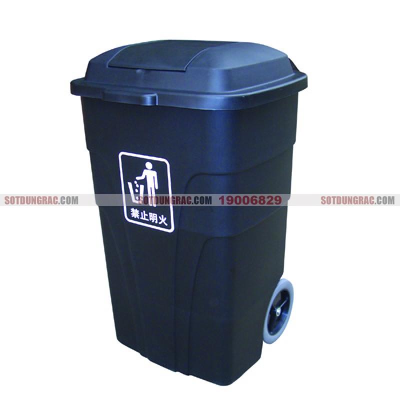 Sọt đựng rác nhựa có nắp đậy