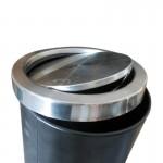 Thùng rác inox tròn nắp lật