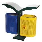 Bán Thùng rác ngoài trời hai ngăn phân loại rác thải