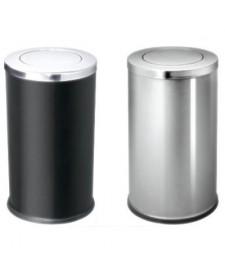 Thùng rác tròn inox có nắp bập bênh