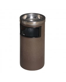 Thùng rác nhựa tròn văn phòng có gạt tàn thuốc lá