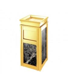 Thùng rác inox vàng đá đen giá rẻ nhất
