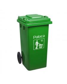 Thùng rác nhựa màu xanh lá loại 120L