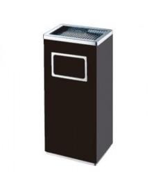 Thùng rác inox chữ nhật có gạt tàn thuốc lá