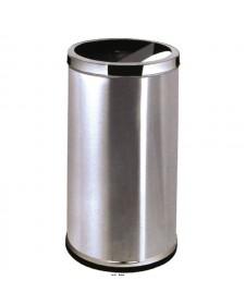 Thùng rác inox tròn có gạt tàn thuốc phía trên