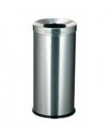 Thùng rác inox tròn không có gạt tàn thuốc lá