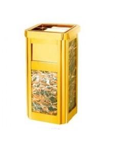 Sọt rác đá hoa cương có khay gạt tàn thuốc lá