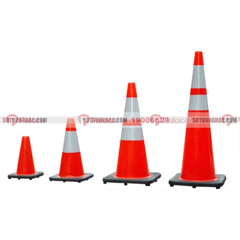 Cọc tiêu giao thông pvc nón chóp di động