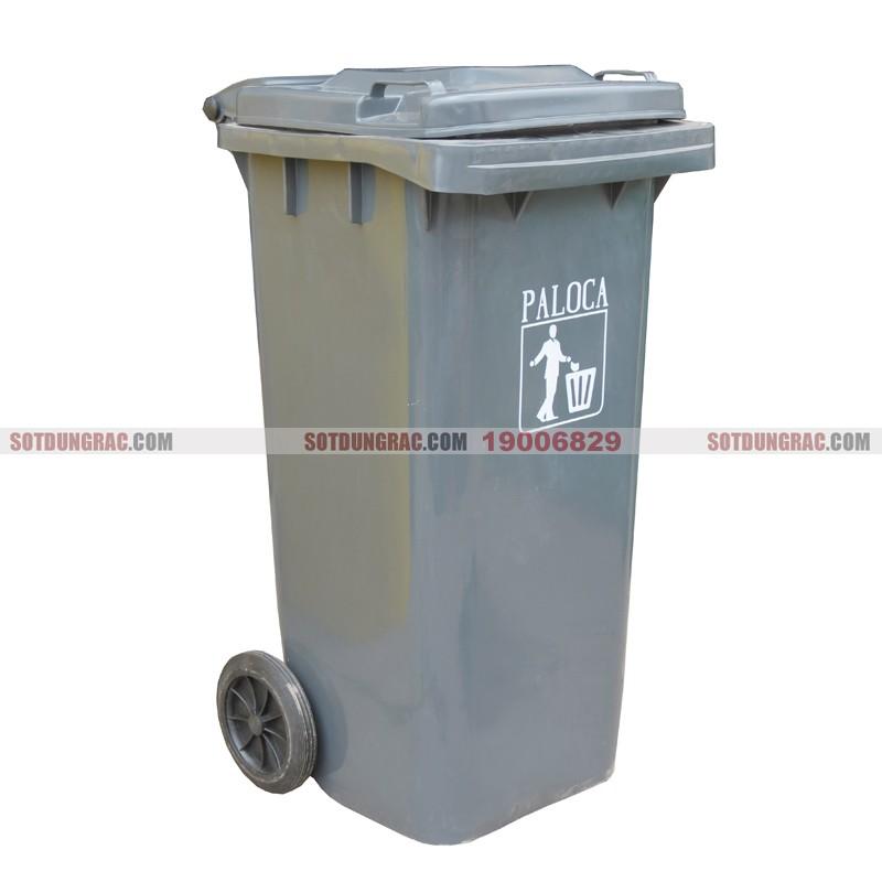 Thùng đựng rác nhựa hdpe 120l màu ghi