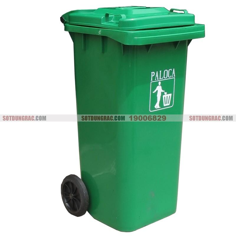 Thùng đựng rác nhựa hdpe 120l có bánh xe giá rẻ