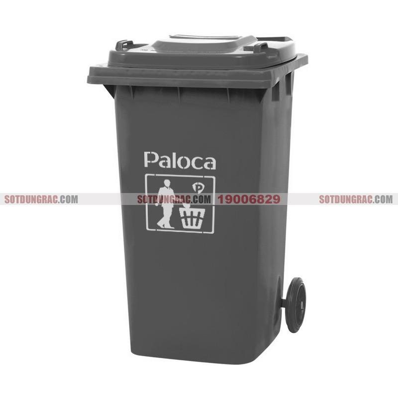 Thùng đựng rác nhựa hdpe 240l màu ghi