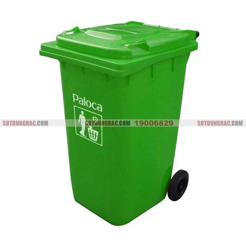 Thùng đựng rác nhựa hdpe 240l có bánh xe giá rẻ