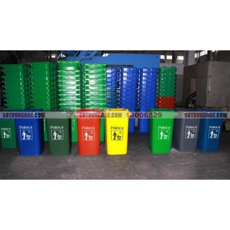 Thùng rác công nghiệp 120l các loại