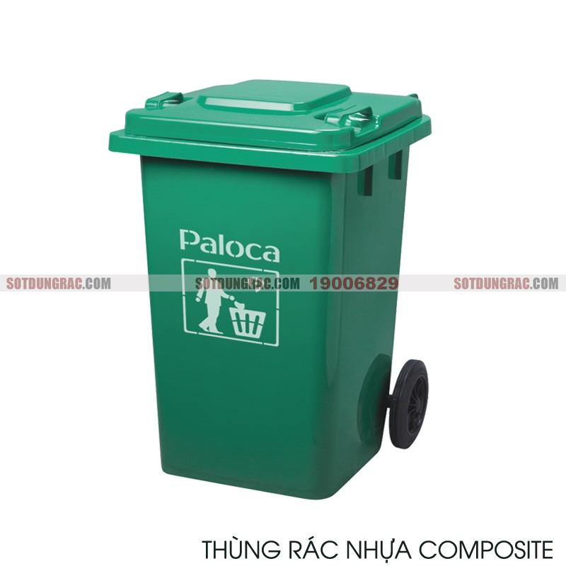 Thùng đựng rác nhựa composite loại 60l có nắp đậy