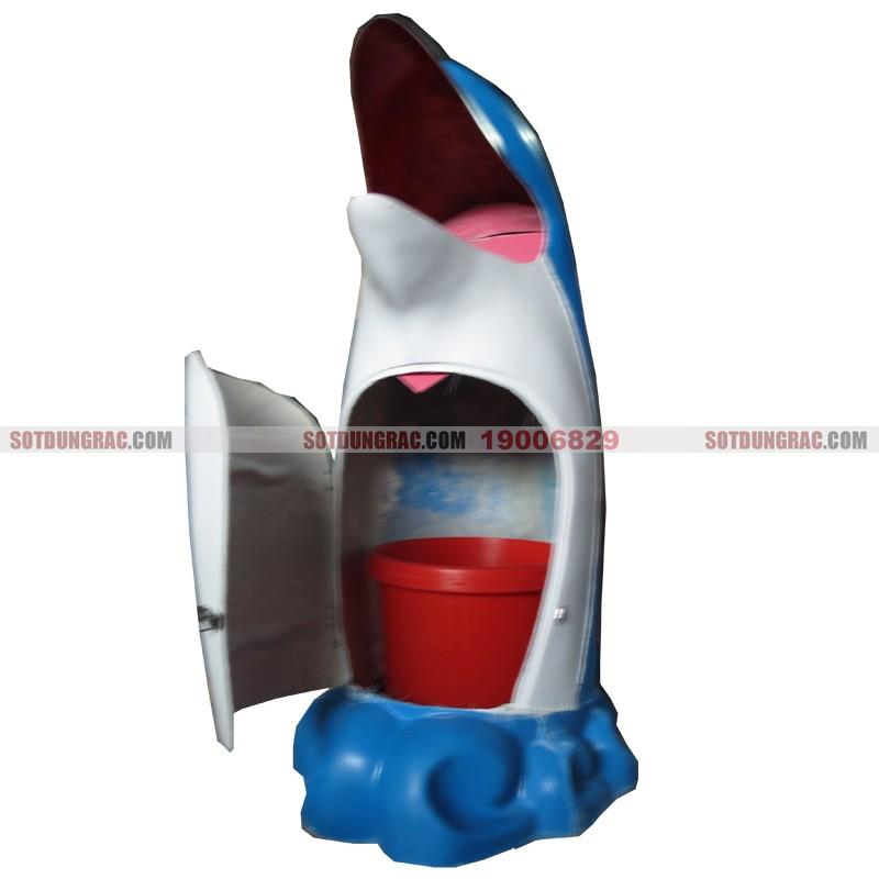 thùng rác cá heo bằng nhựa composite