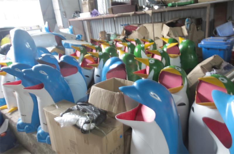 thùng rác nhựa hình thú