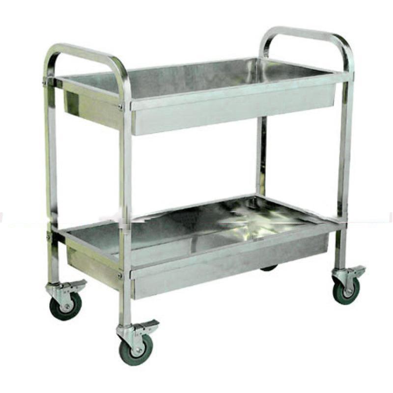 Xe đẩy dụng cụ y tế bằng inox 3 tầng